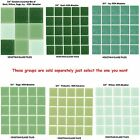 """50 - 3/4"""" Venetian Green Glass Mosaic Tiles for your Project (Pick you Group) #1"""