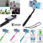 Extendable Rearview Mirror Wire Monopod Selfie Stick For Apple iPhone Samsung LG