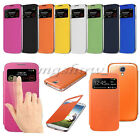 Luxury Slim Flip S-VIEW Smart Case Hard Cover For Samsung GALAXY SIV S4 I9500