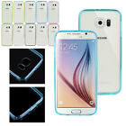 Acrylic TPU Bumper PC Matte Clear Back Case Cover for Samsung Galaxy S6 G9200 N2