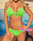 Sexy Green Tree leaf Stickers bikini SWIMSUIT SWIMWEAR AU Size 8 10 12 14