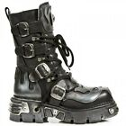 NEWROCK New Rock 107 S2 SILVER SKULL DEVIL METALLIC BOOTS ALL SIZES 107-S2