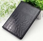 Crocodile Skin PU Leather Back Cover Case For Apple iPad 2 3 4 5 6 Mini 1 2 3