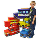 KIDS BOYS GIRLS STORAGE TOY PLAY BOX BEDROOM BOOK SEAT STOOL CHEST COMPARTMENT