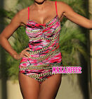 Sexy Chain Print pink One Piece MONOKINI SWIMSUIT SWIMWEAR 5565 UK Size 10 12 14