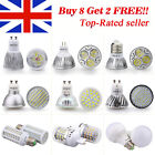 4 10 X LED Bulbs SMD Lamp Spot Light GU10 / MR16 / E27 / E14 / B22 / G9 / R7s UK