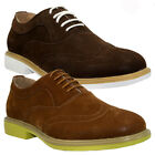 MENS FAUX SUEDE LACE UP CASUAL FORMAL ANKLE DESERT BROGUE BOOTS SHOES SIZE 7-12
