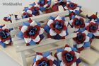 102pcs*Artificial Silk Rose Flower head For Hair Clips Home Wedding Favors NF001