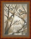 CAT AND BIRDS -  14 COUNT CROSS STITCH CHART (DMC THREADS) FREE PP WORLDWIDE