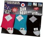 BAWBAGS NEW Men's 3 Pack Socks Argyle Black Blue Pink BNWT
