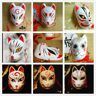 Japanese Anime Manga Movie Cosplay Halloween Fox Mask Kitsune Hand-Painted New