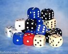 10mm Opaque D6 Spot Dice Six Sided Adults, Children, Family, Modern, Plastic