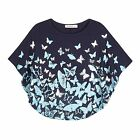 Bluezoo Kids Girl's Navy Butterfly Cape Top From Debenhams