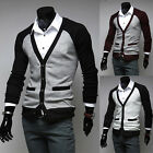 Mens Casual Stylish V-neck Sweater Tops Cardigan Button Slim Fit Shirts Sweaters