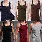 NEW Men's Plain T-Shirts Tank Top Muscle Camo Sleeveless Tee T-Shirt Cotton TOPS image