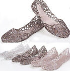 New Womens Ventilate Jelly Shoes Hollow Out Flat Sandals Comfort Shoes