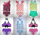 Girls Tankini Bikini 2 piece Swimsuit Bathing Suit Kids Children Bather age 3-10