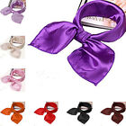 Women Lady's Soft Scarf Satin Square Scarves Satin Neckerchief Neck Headband