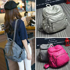 Women Faux Leather Small Backpack Rucksack Purse Casual Travel Bookbag Schoolbag