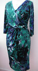 NEW Per Una crossover stretch jersey dress-Green/blue-RRP £45~10 and 12