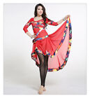 New 2015 Belly Dancing Costumes  Practice 2Pcs Top Skirt