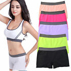 Seamless Stretch Shorts Solid Colors Spandex Workout Basic Plain Tight Bike Yoga
