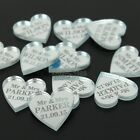 150*Personalized Engraved Mirror Love Heart Wedding Table Mr & Mrs Decor Favors
