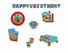 PAW PATROL BIRTHDAY PARTY TABLEWARE & DECORATIONS PLATES NAPKINS SWIRLS ETC