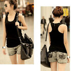 6 Candy Color Beauty Sleeveless Causal Summer Beach Tank Tops Cami T-Shirt Vest