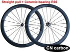 Straight Pull Ceramic bearing 50mm Tubular carbon road wheels 20.5mm,23mm,25mm