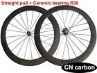 U shape R36 Straight Pull Ceramic bearing 60mm Clincher carbon road bike wheels