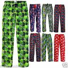 NEW MENS LONG PJ CHARACTER PYJAMAS BOTTOMS LOUNGE PANTS JOGGERS COMIC ADULT BOYS