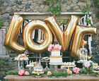 "30""Gold Silver LOVE Set Mylar Foil Balloons Birthday Wedding Party Decorations"