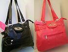 Beautiful Large Soft Faux Leather Fashion Inspired Tote Bags Black/Fuchsia Pink
