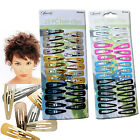 METALLIC COLOURED SNAP HAIR CLIPS LADIES FASHION SLIDES GIRLS GOLD ACCESSORIES