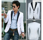 Hot Men's One Button Suit Blazer Formal Coat Jacket Fashion Party Outwear M-XXL