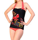 BANNED BLACK SWIMSUIT ANCHOR LADIES BIKINI PINUP COSTUME ROCKABILLY 50'S GOTH
