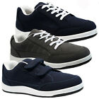 MENS RUNNING TRAINERS CASUAL VELCRO LACE RUNNING GYM WALKING SPORTS SHOES SIZES