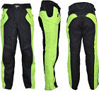 Motorcycle Waterproof Trousers CE Armoured Black HiVis Motorbike Textile Pants
