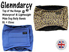 GLENNDARCY WATERPROOF - MALE DOG BELLY BAND NAPPY / MARKING  - SIZES XL to XXL