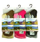 3 Pairs Freshfeel Ladies Womens Ultimate Walking Hiking Cotton Boot Sock 4-7