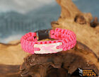 Breast Cancer Awareness thin line paracord bracelet with Pink ribbon charm