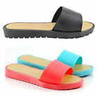 Ladies SIZE 3 - 8 Mules Sandals NEW Black Coral Turquoise Comfort Flip Flops