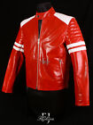 MAYHEM RED Mens Biker Style Fashion Movie Real Lambskin Leather Jacket