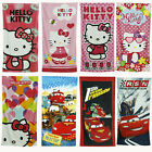 New Soft Hello Kitty And Disney Cars Bath Shower Beach Swimming Children Towel