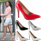 LADIES WOMENS HIGH STILETTO POINTED HEEL SMART PARTY WORK PROM COURT SHOES SIZE