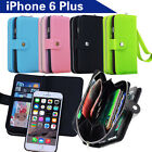 Apple iPhone 6 Plus Case Magnet Zip Leather Flip Cover Coins Wallet All in One