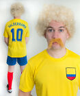 Carlos Valderrama Colombia Football Fancy Dress Costume ideal for Stag Party