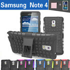 TPU Case Cover Samsung Galaxy Note 4 N910 N910F N910X Heavy Duty With Kickstand