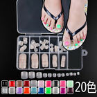NEW Colorful Nail Art Tips Toenail Design Acrylic UV Gel French False Toe HOT